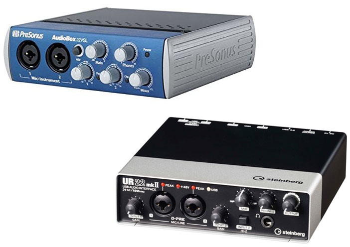 PreSonus AudioBox 22VSL vs Steinberg UR22