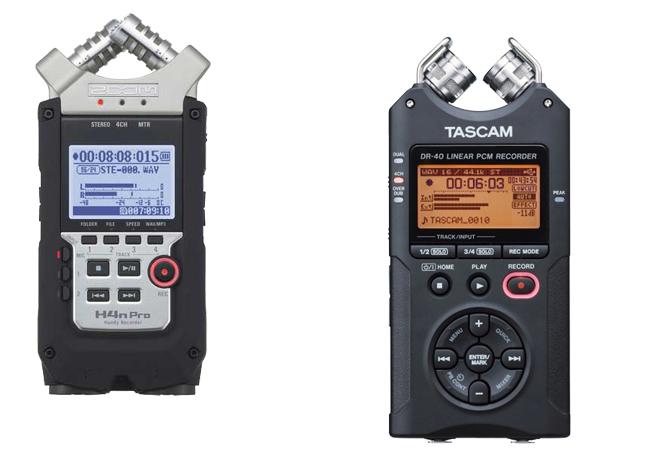 Zoom H4N vs Tacam DR-40