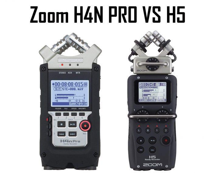 Zoom H4N PRO vs H5