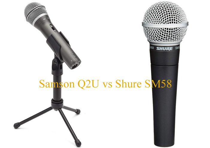 Samson Q2U vs Shure SM58