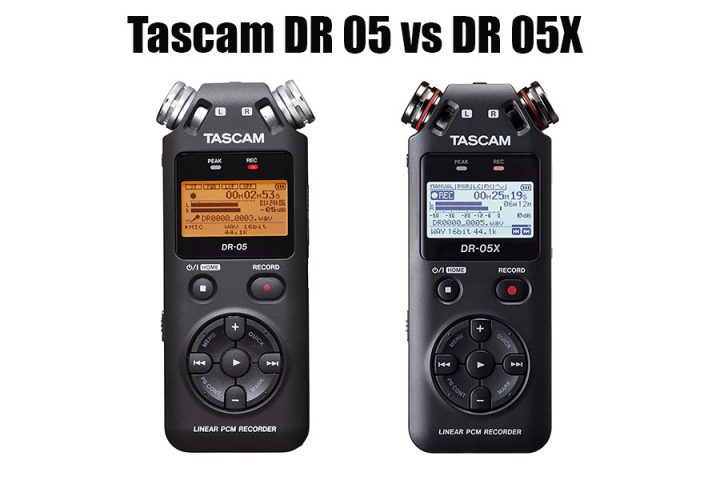 Tascam DR 05 vs DR 05X
