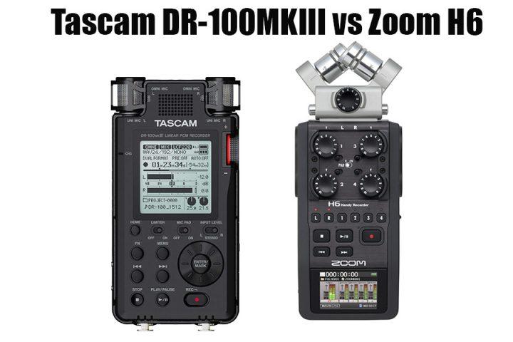 Tascam DR-100MKIII vs Zoom H6