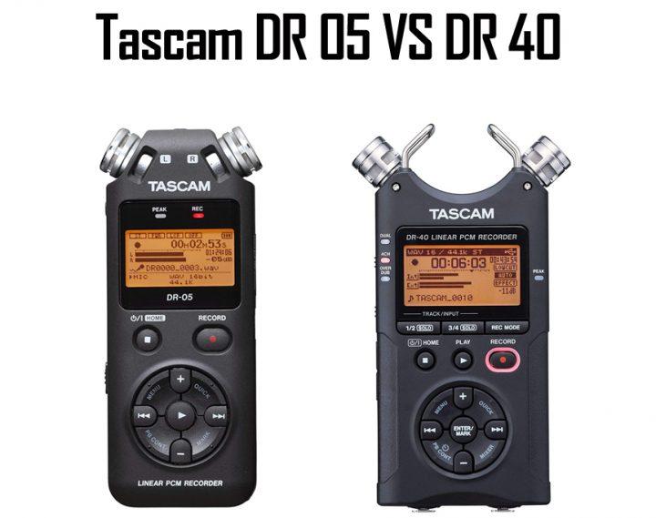 Tascam DR 05 vs DR 40