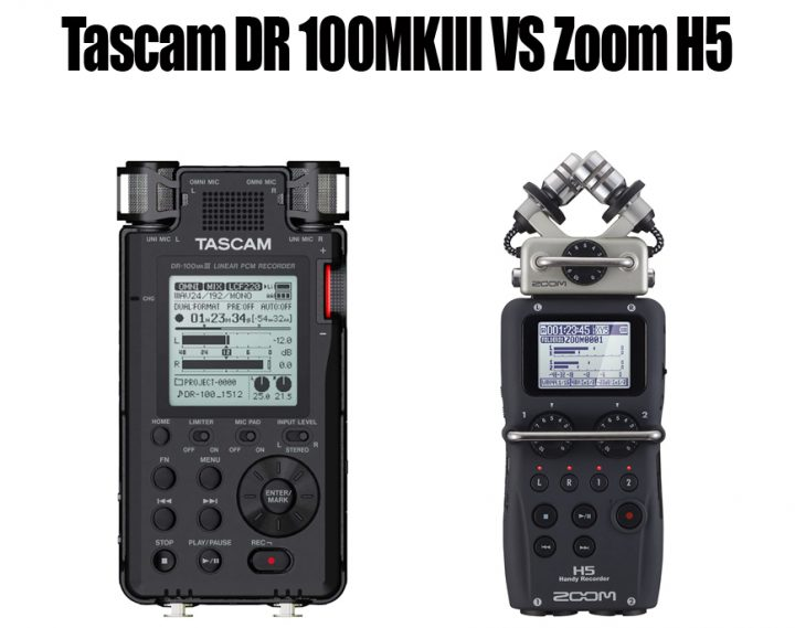 Tascam DR 100MKIII vs Zoom H5