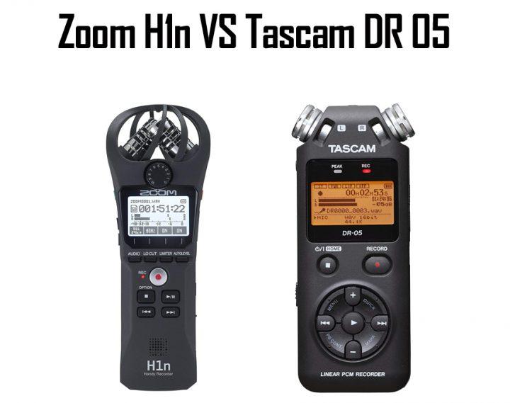 Zoom H1n vs Tascam DR 05